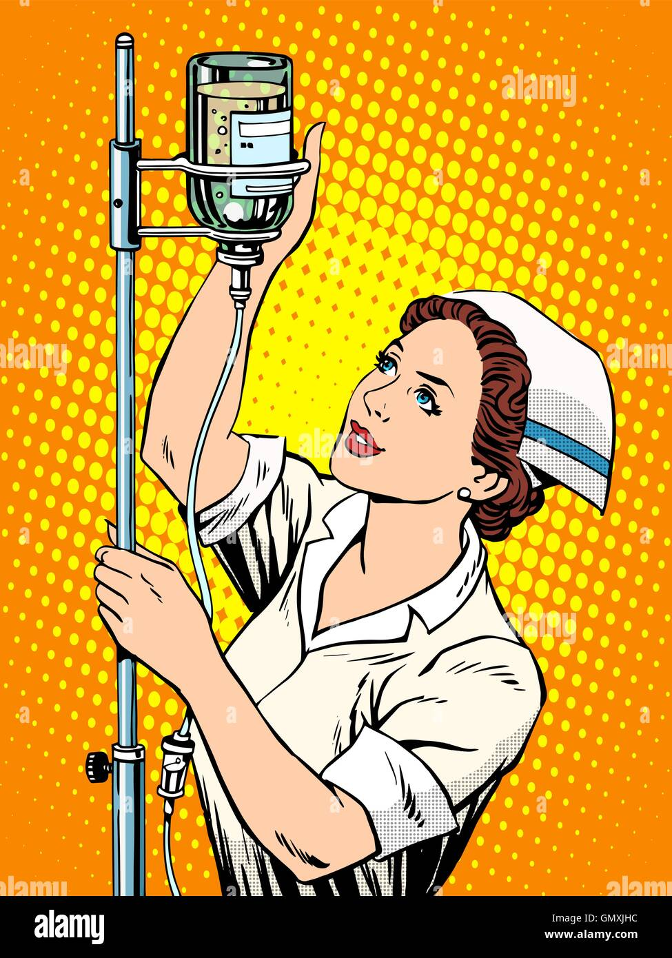 Nurse medicine dropper - Stock Vector