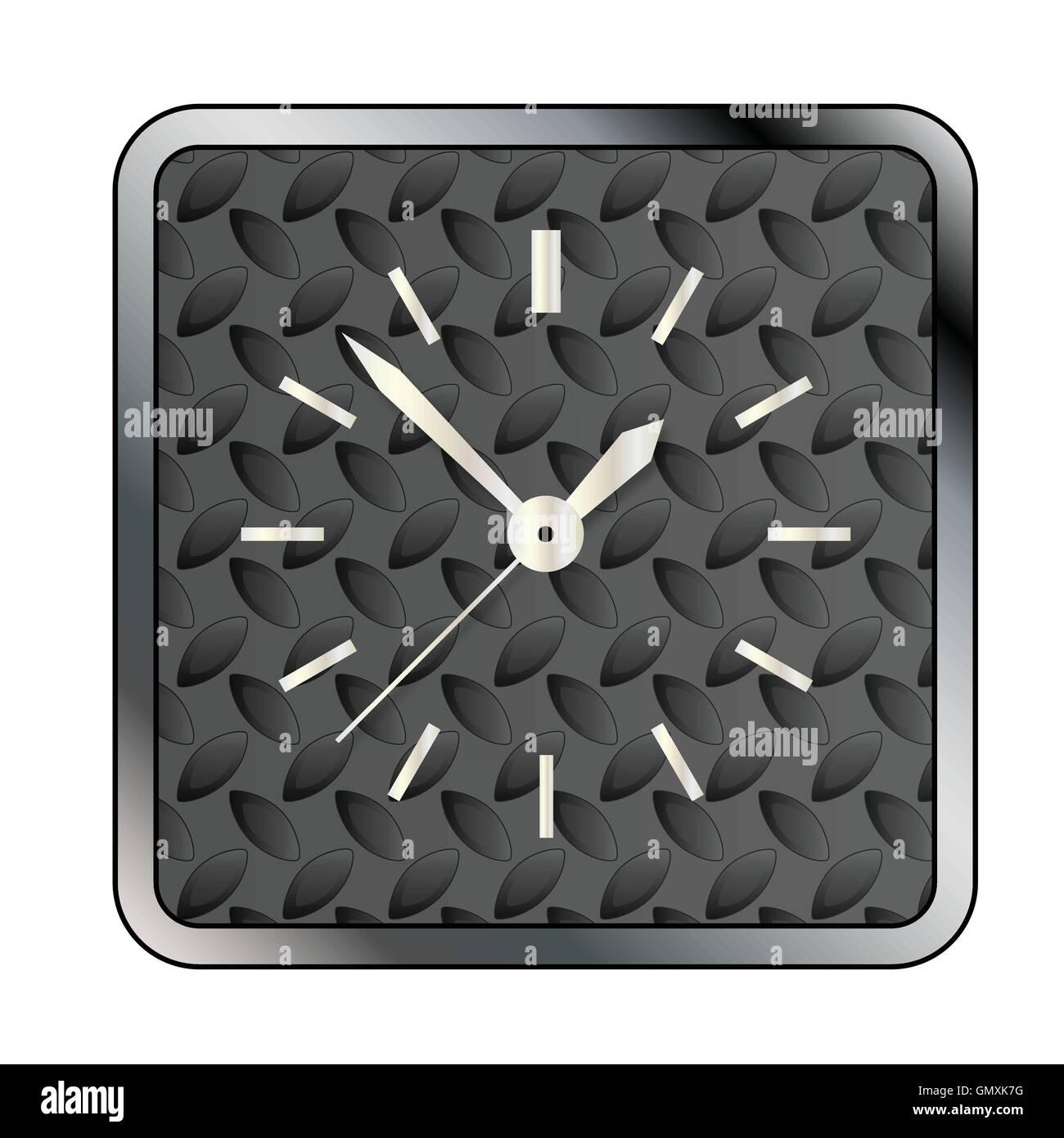 Metal Tread Clock Face - Stock Image