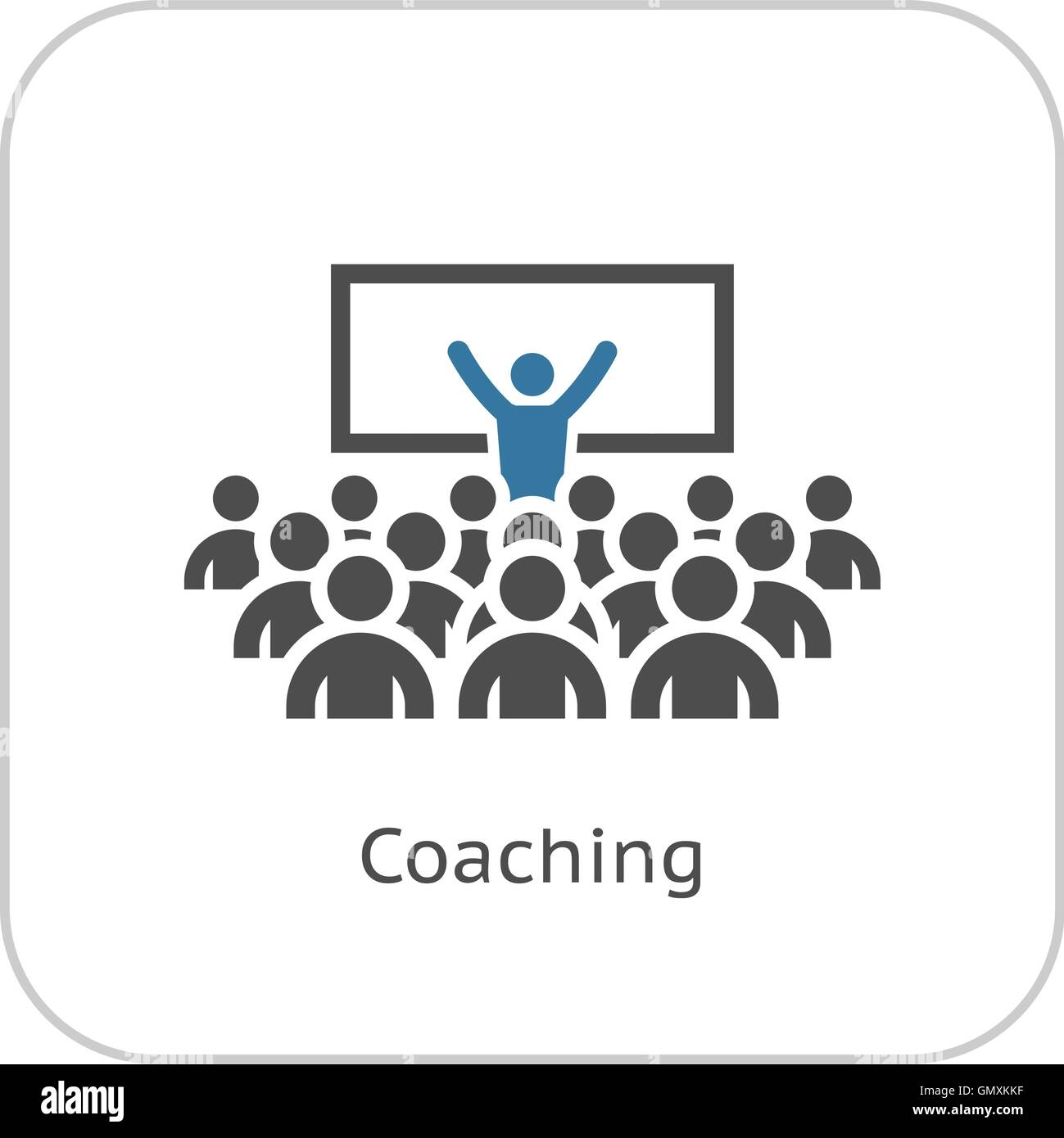 coaching icon business concept stock vector art illustration
