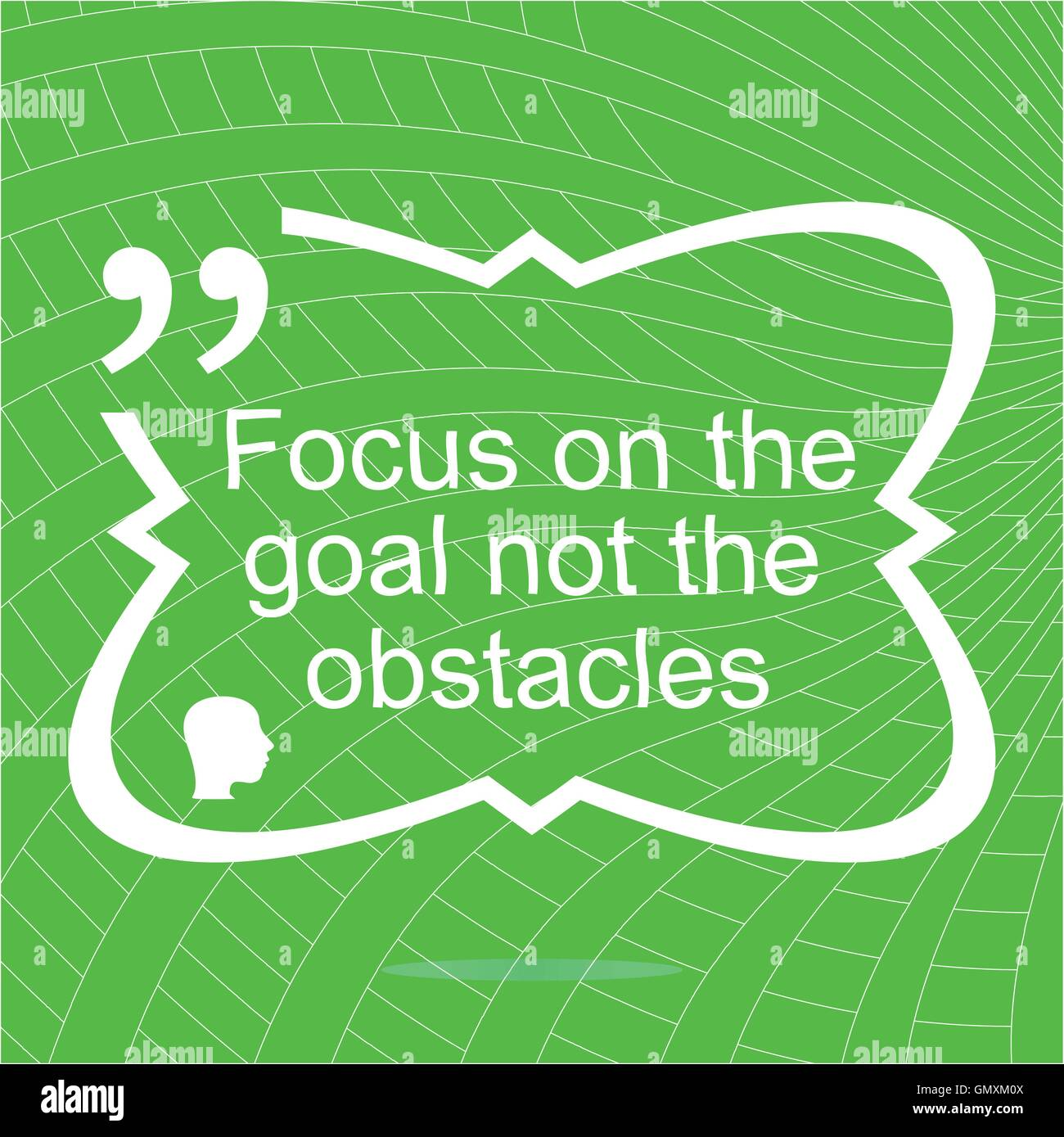 Inspirational motivational quote. Focus on the goal not the obstacles. Simple trendy design. Positive quote.  Vector - Stock Image