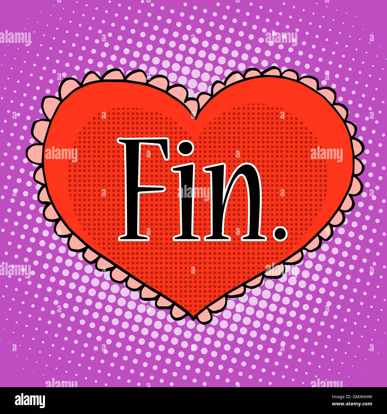 The final love red heart - Stock Vector