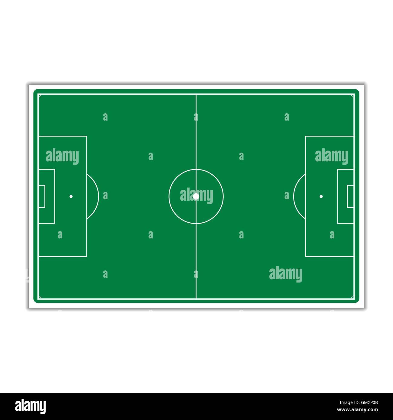 A field for Soccer, vector illustration. - Stock Vector