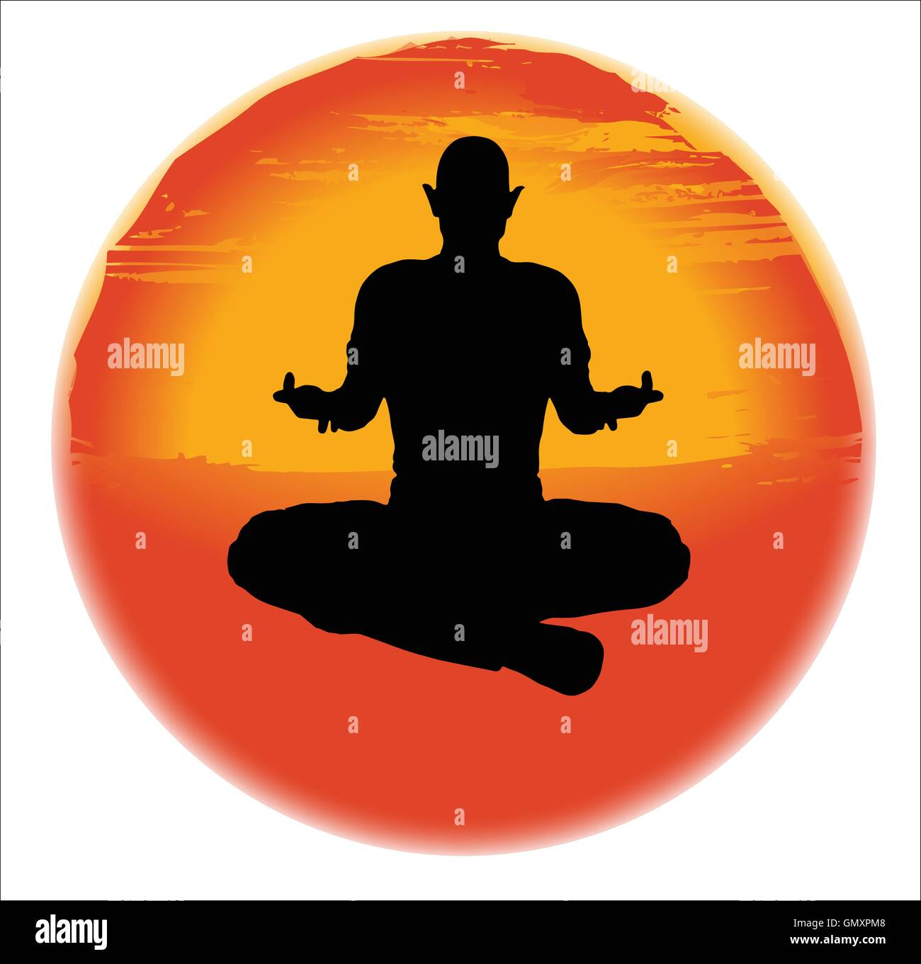 The Sukhasana Pose - Stock Vector