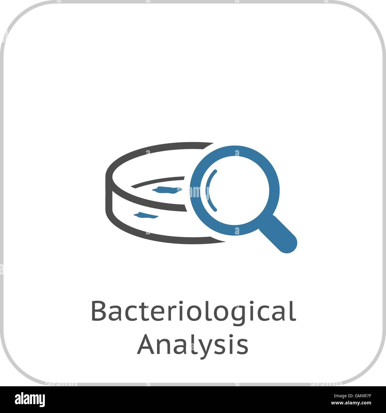 Bacteriological Analysis Icon. Flat Design. - Stock Image