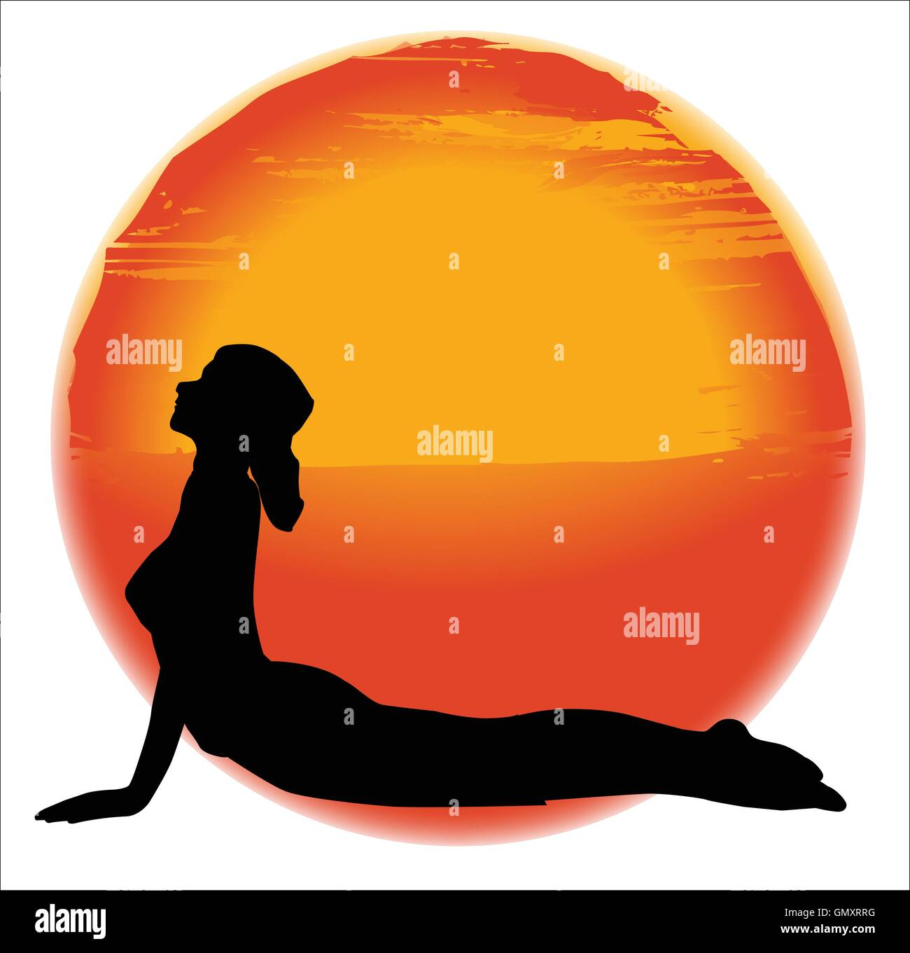 Bhujangasana Yoga Pose - Stock Vector