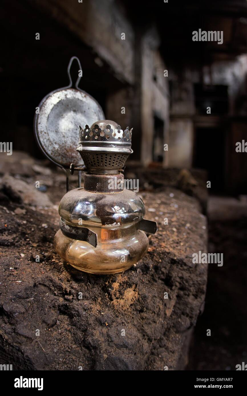 Old kerosene lamp Stock Photo