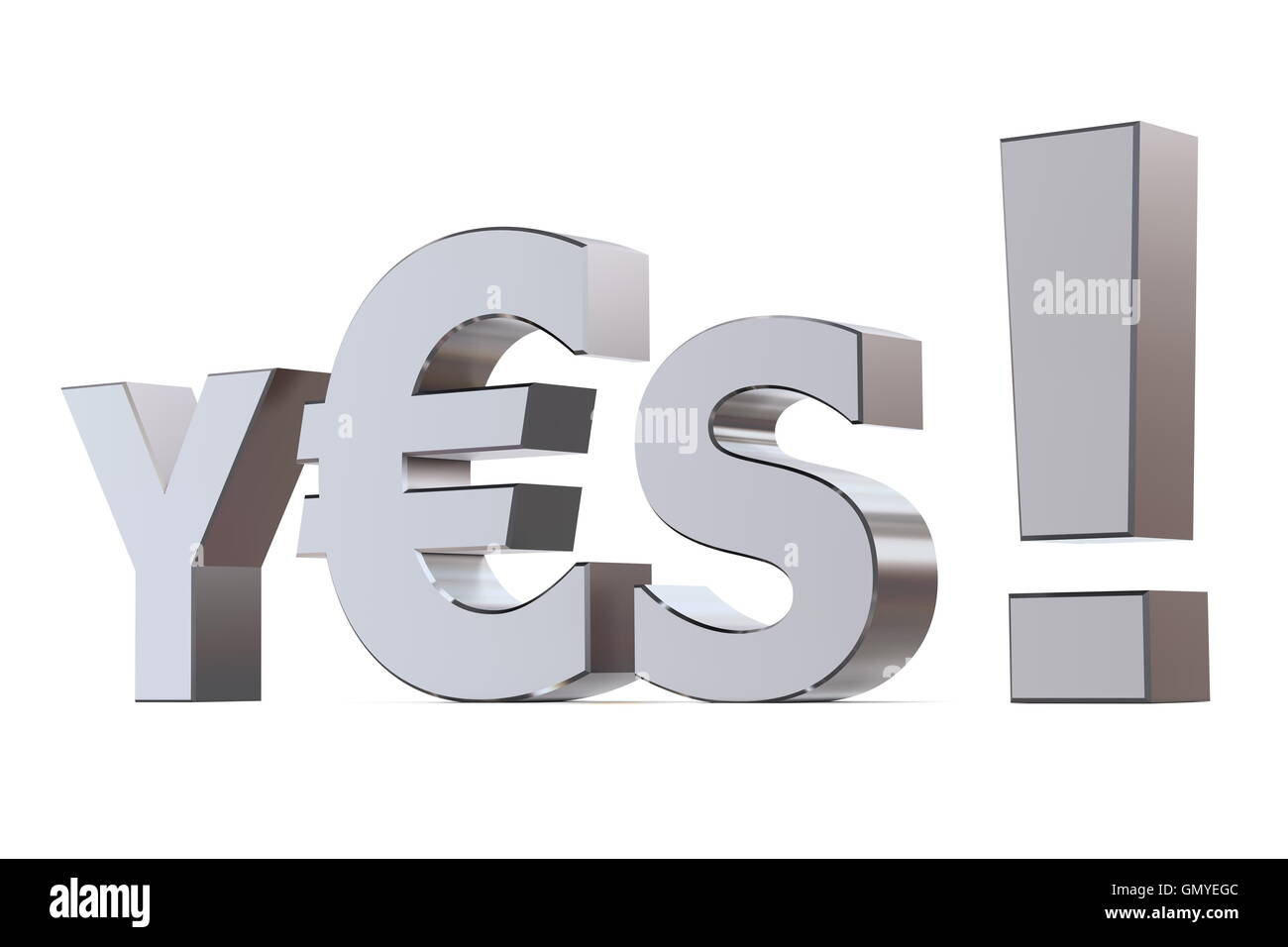 Yes to Euro - Stock Image