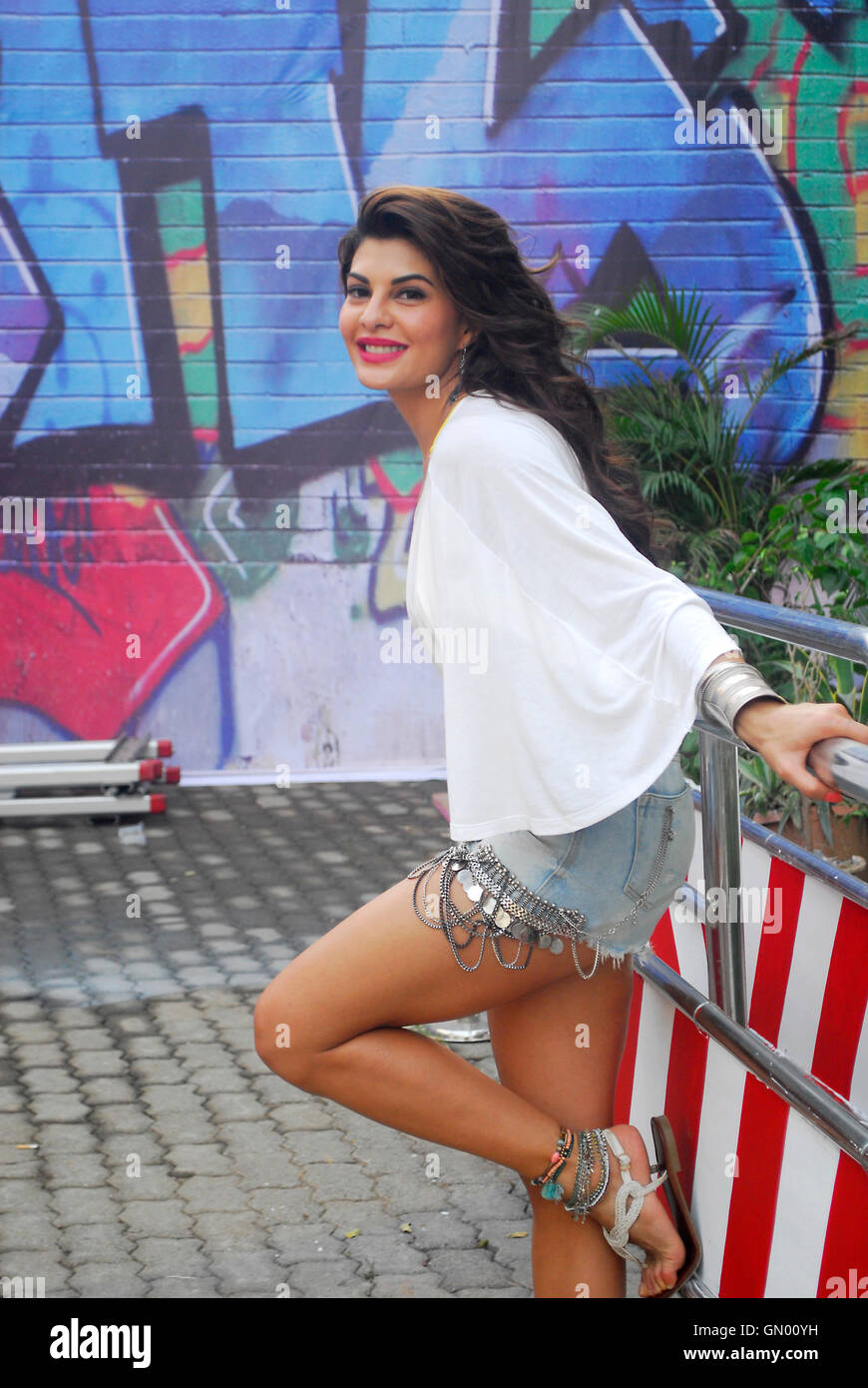 Jacqueline Fernandez On Set Film Roy Stock Image