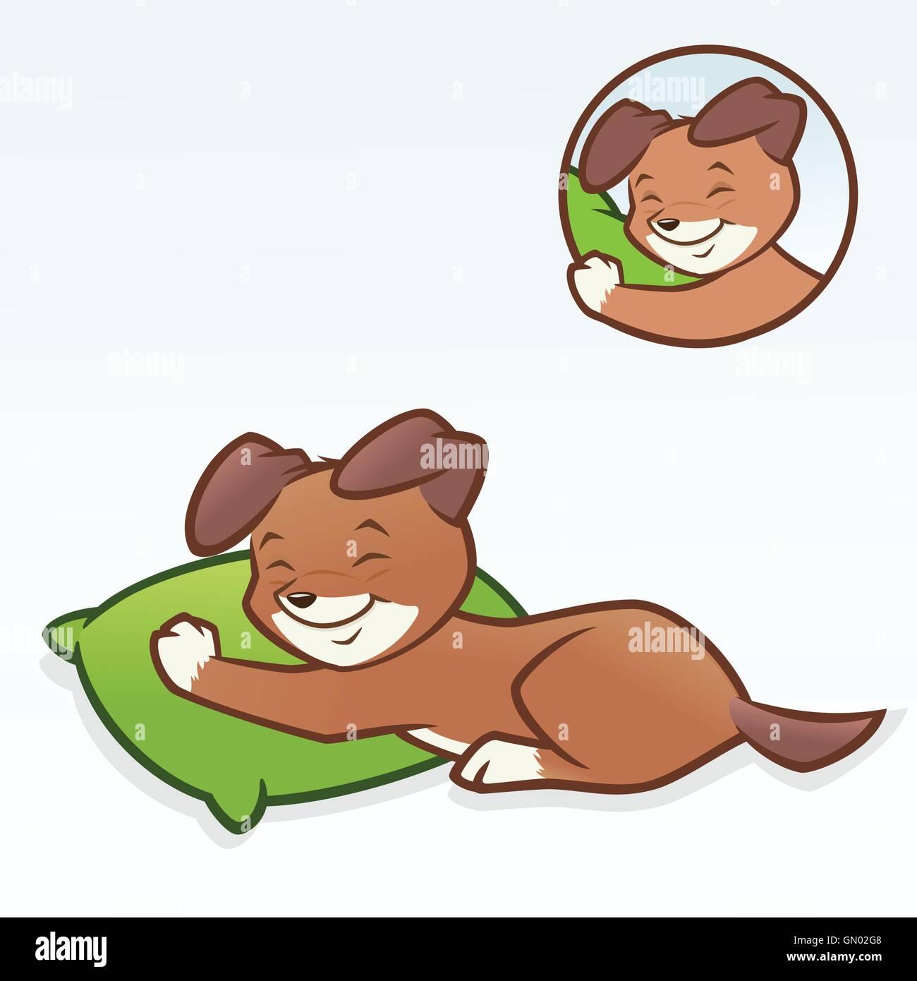 Cartoon Dog Puppy Sleeping Stock Vector Image Art Alamy