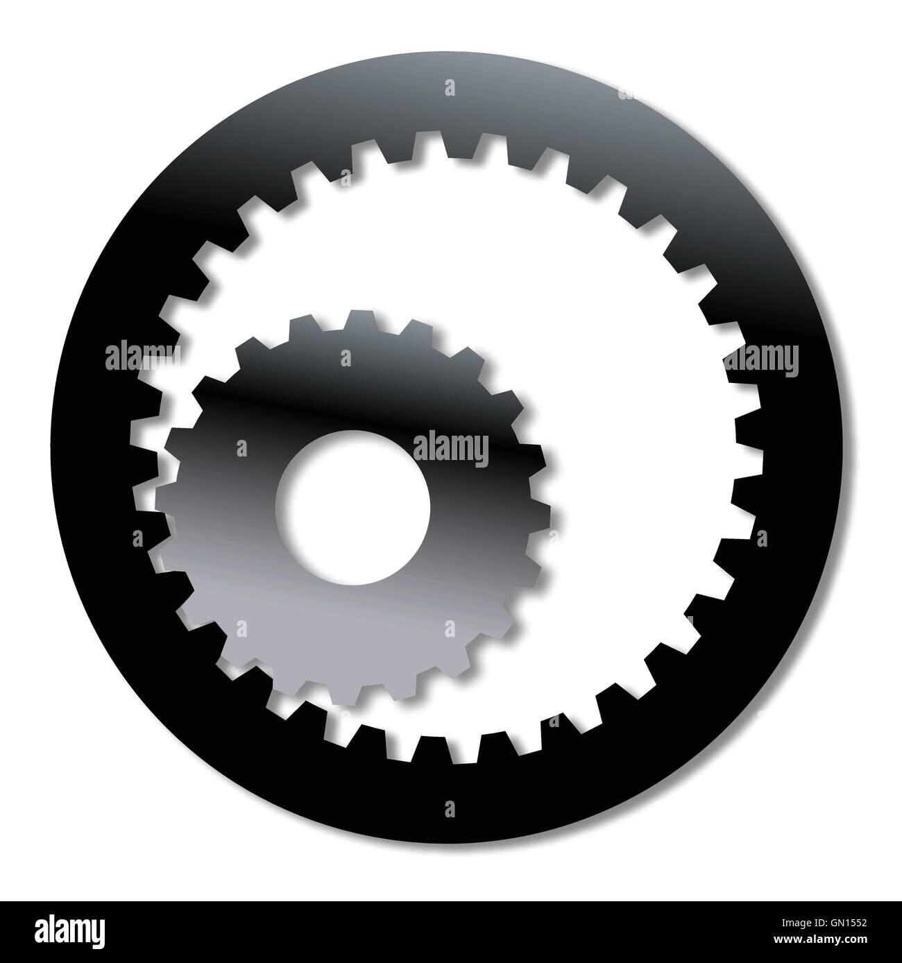 Gearbox Internal Gearing - Stock Image