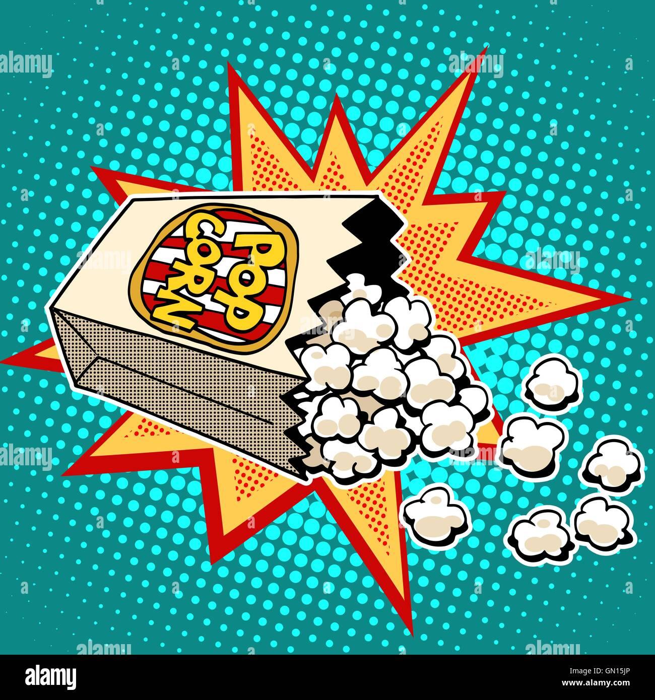 Popcorn sweet and savory corn - Stock Vector