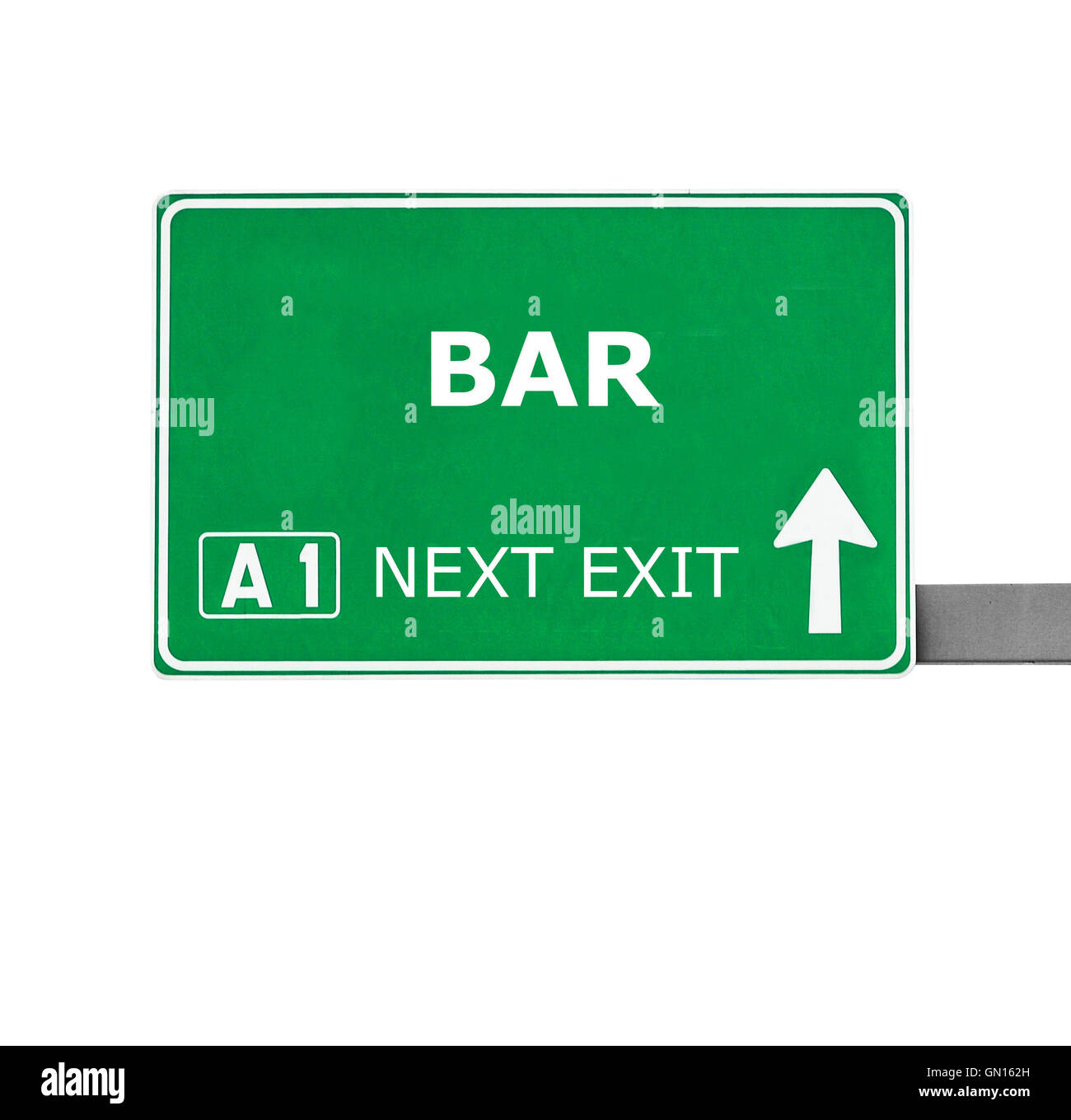 BAR  road sign isolated on white - Stock Image