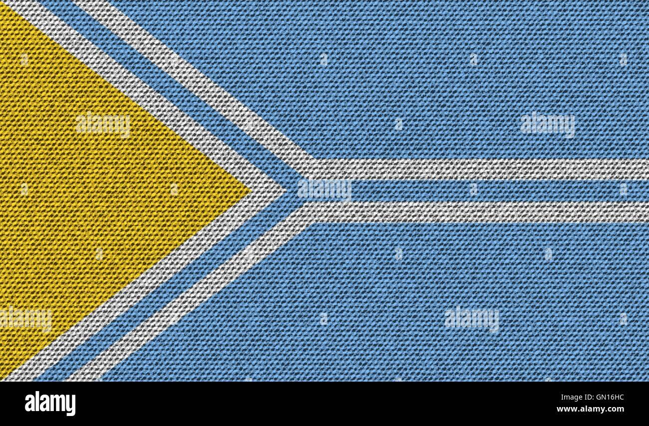 Flags Tuva on denim texture. Vector - Stock Image