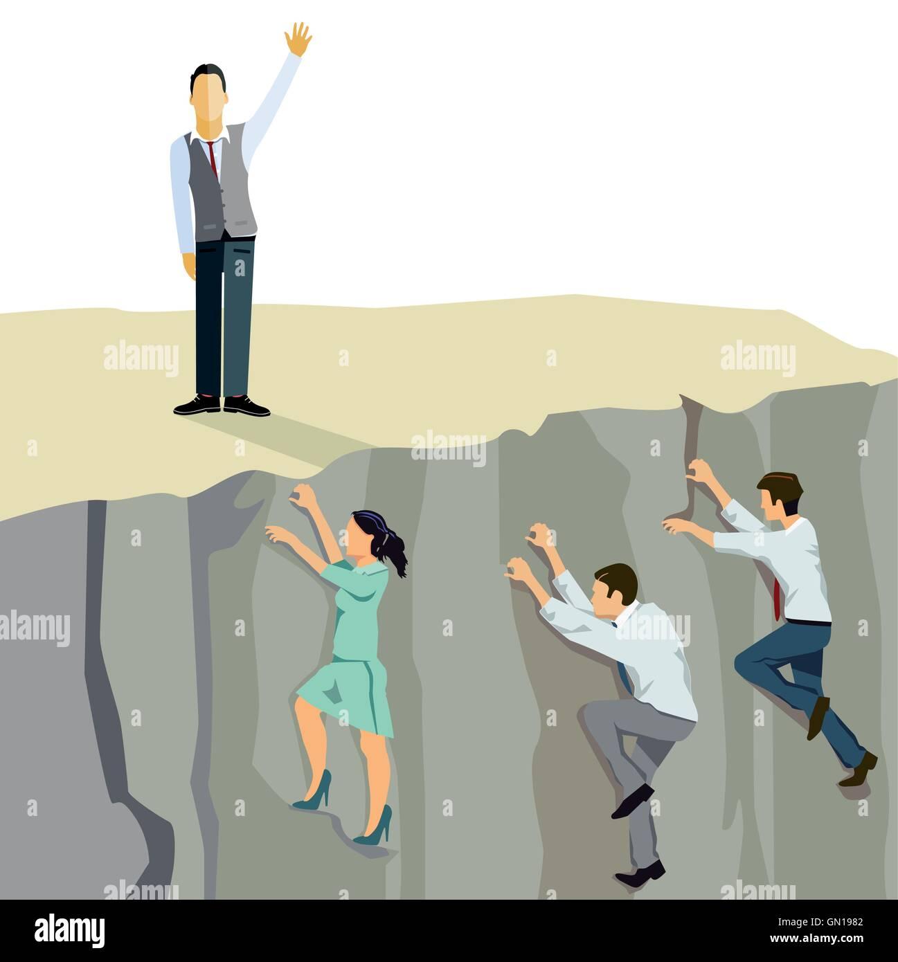 Business ascent upwards climb - Stock Image