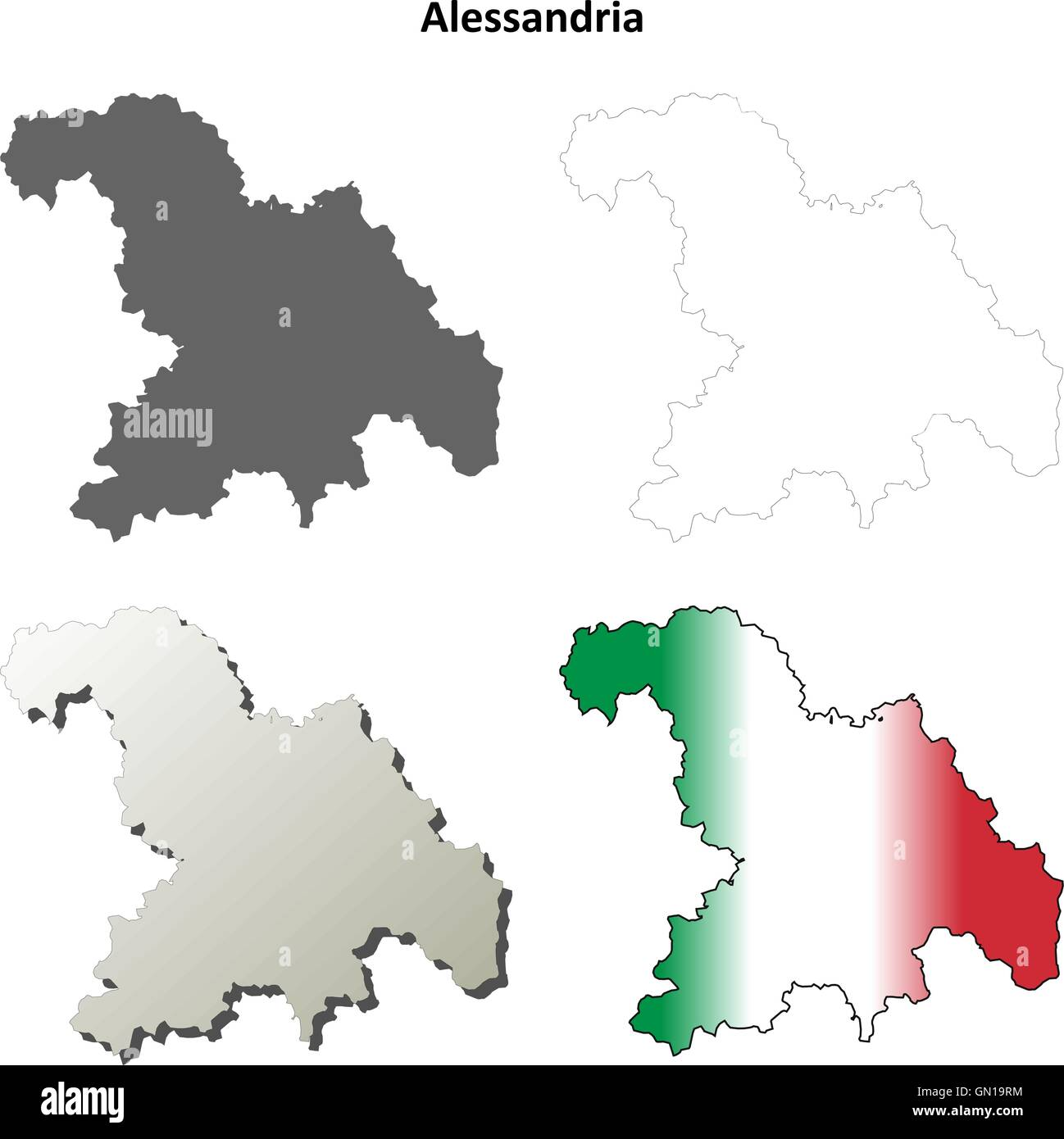 Alessandria Italy Map.Alessandria Italy Stock Vector Images Alamy