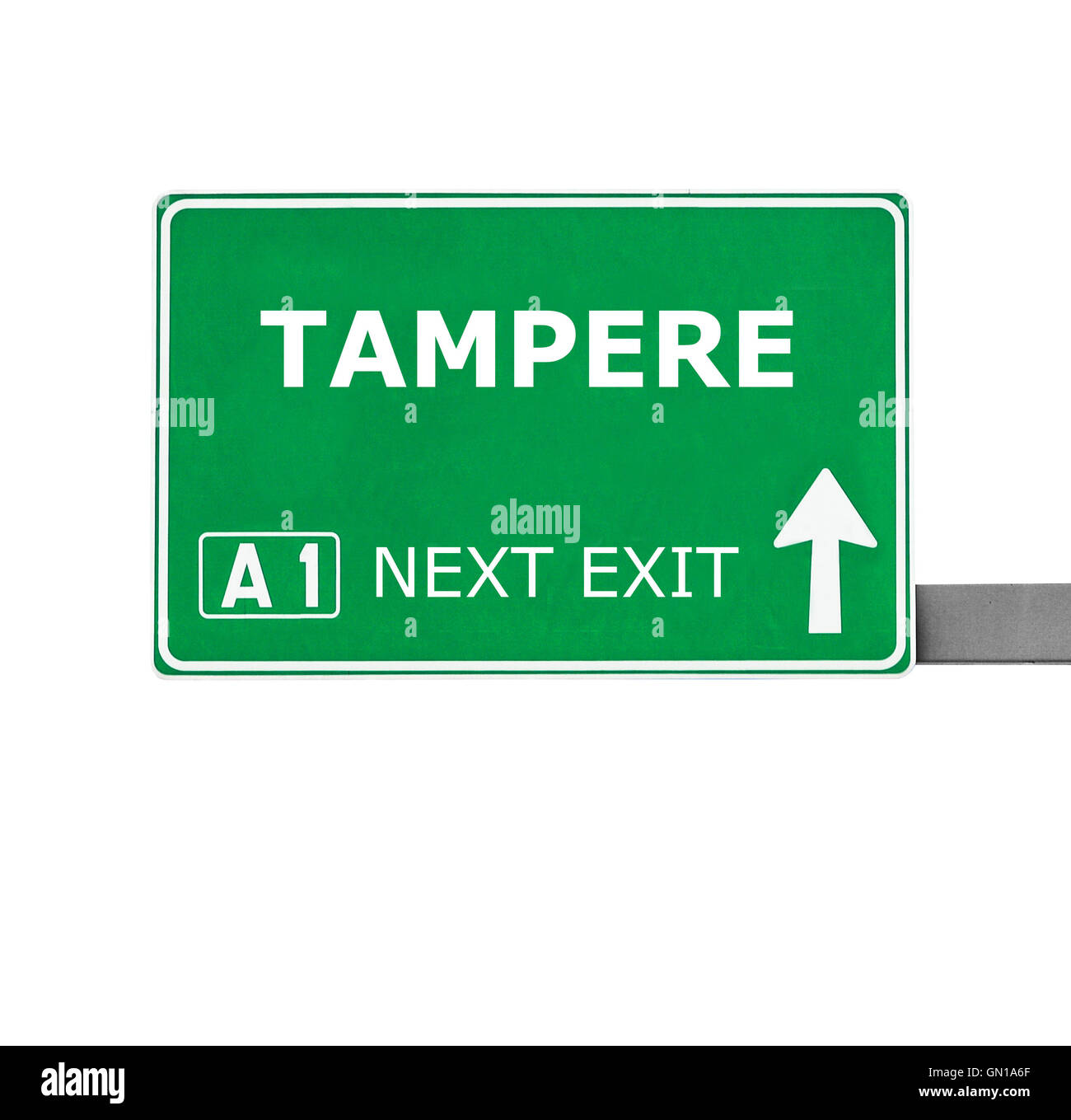 TAMPERE road sign isolated on white - Stock Image