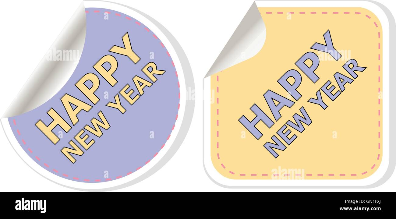 happy new year card design creative concept vector background for web and mobile applications illustration template design bu