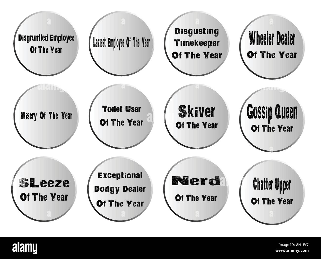 Of The Year Badges - Stock Image