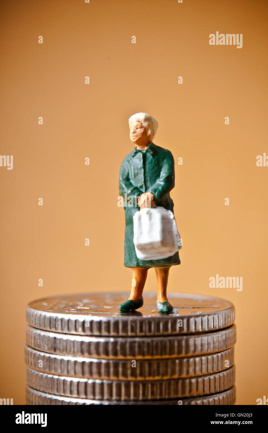 retirement and pension concept - Stock Image