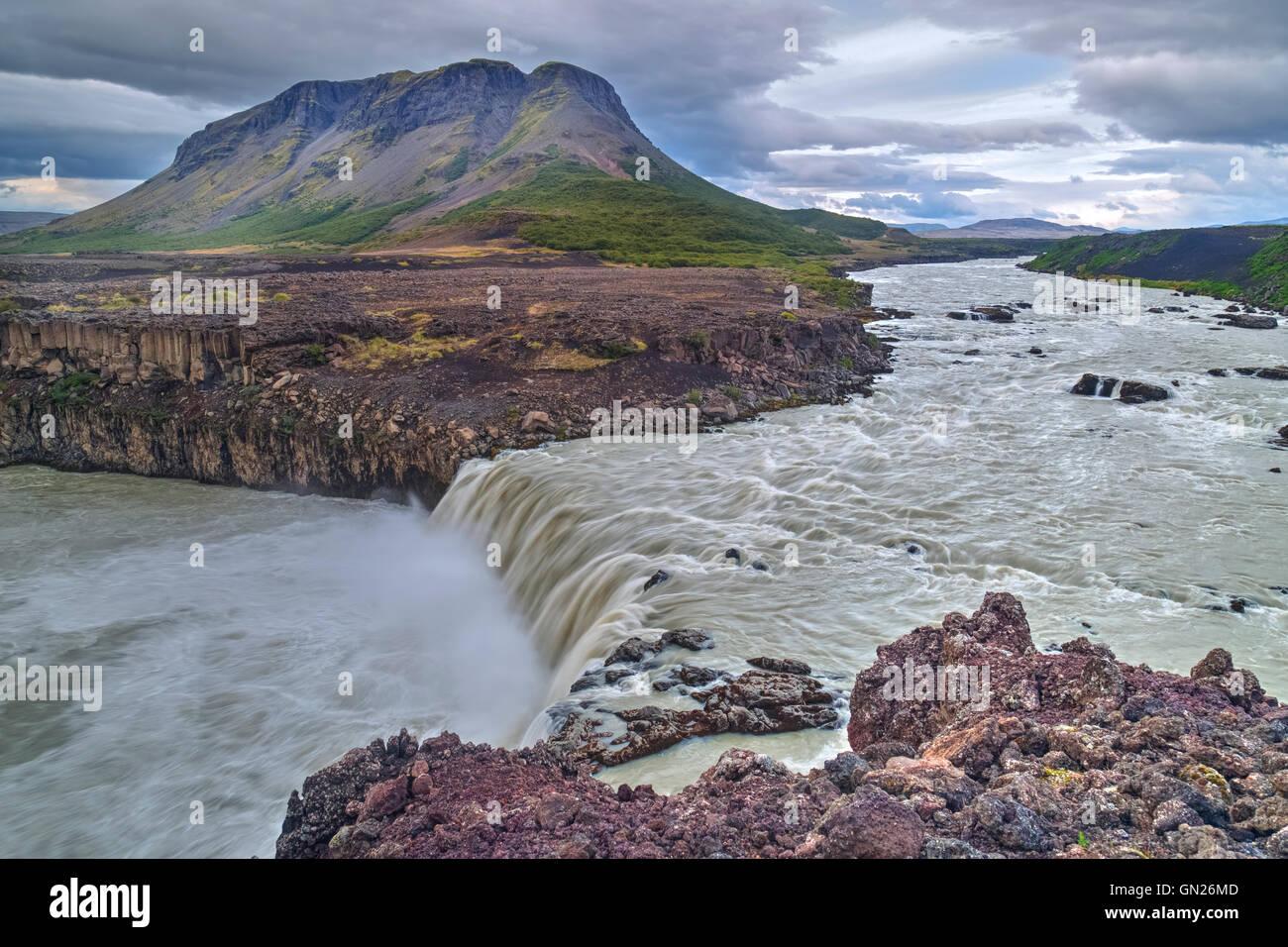 Thjofafoss, Merkurhraun lava fields, Iceland - Stock Image