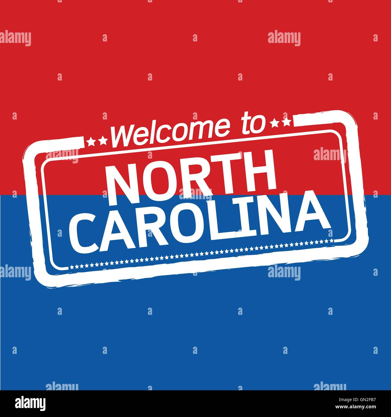 Welcome to NORTH CAROLINA of US State illustration design Stock Vector