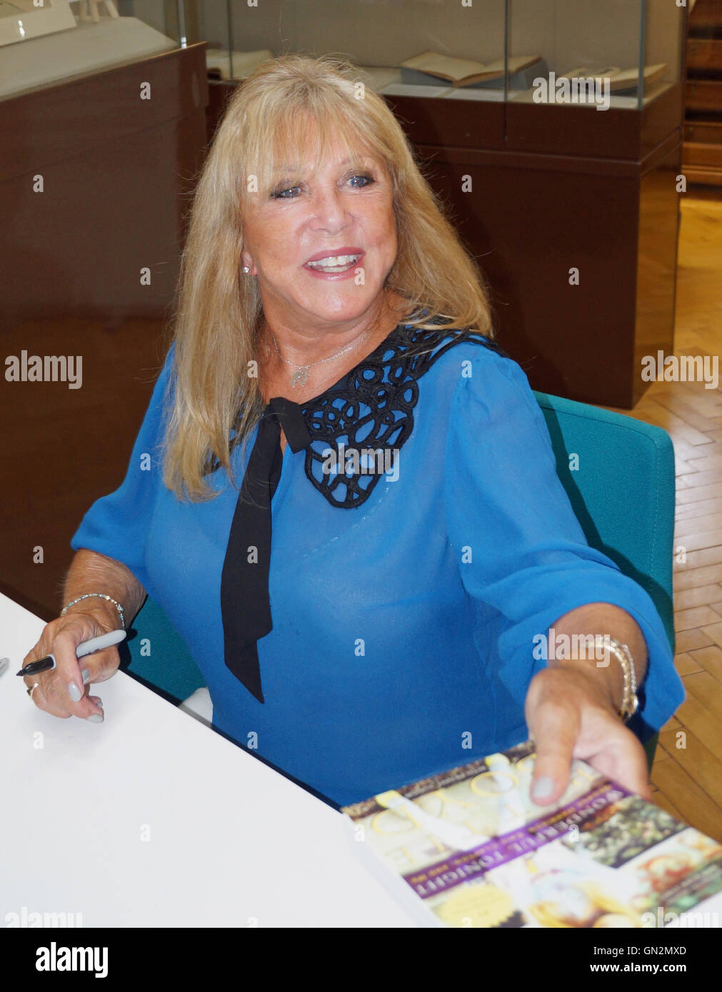 Liverpool, UK. 27th August, 2016. Pattie Boyd signed copies of her autobiography 'Wonderful Tonight' at - Stock Image