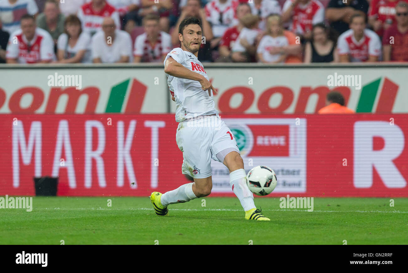 Cologne, Germany. 27th Aug, 2016. Cologne's Jonas Hector during the soccer match between 1. FC Cologne and SV - Stock Image