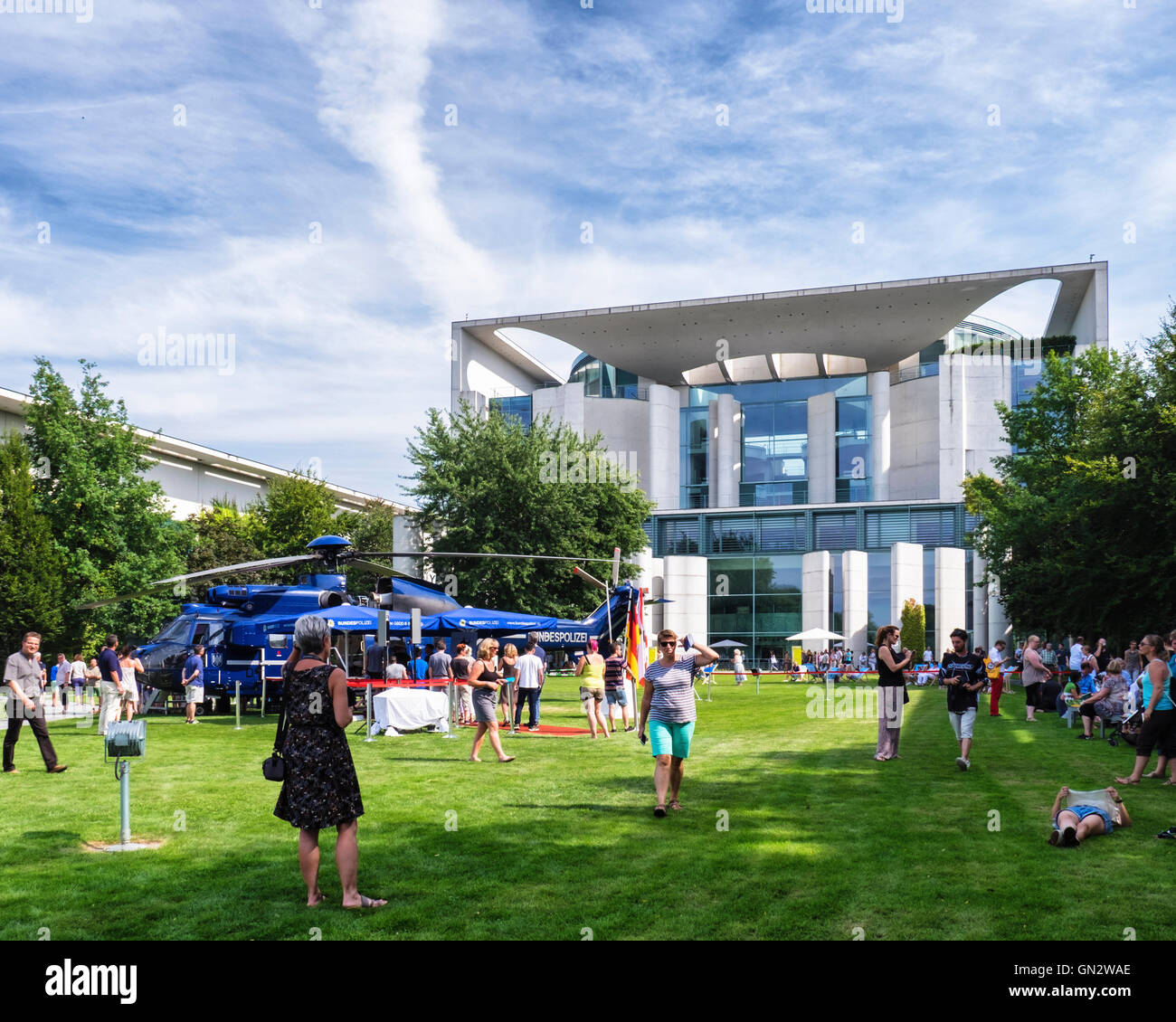 Berlin. Germany, 28th August 2016. Every August or September an 'open day' is held when Government buildings - Stock Image