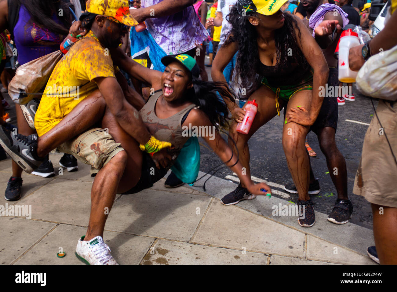 Revelers at the 50th Notting Hill Carnival, London, 2016. Credit:  wayne Tippetts/Alamy Live News Stock Photo