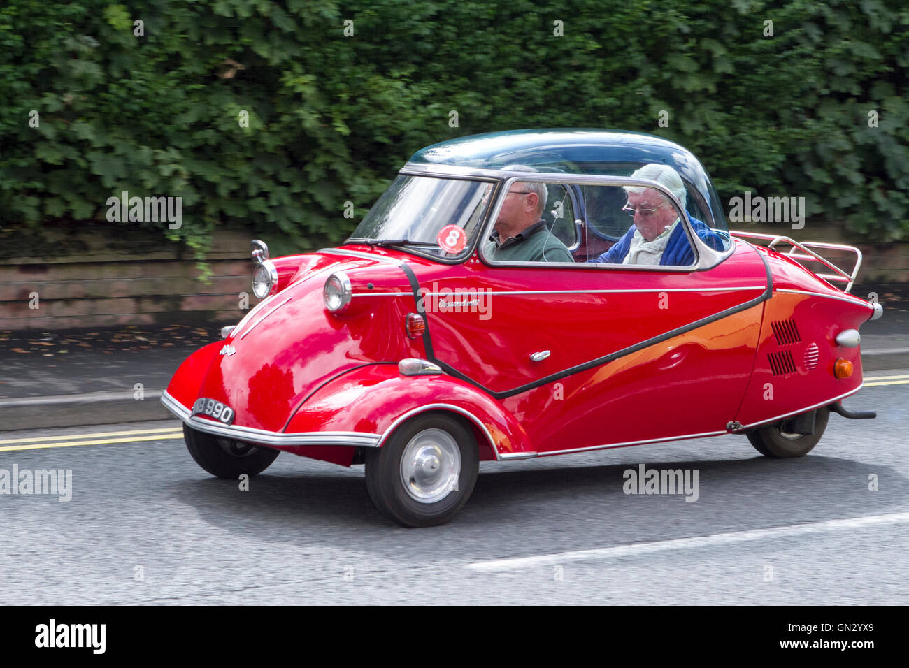 Motorfest in Ormskirk, Lancashire, UK. 28th Aug 2016.  The festival is held in the historic market town of Ormskirk - Stock Image