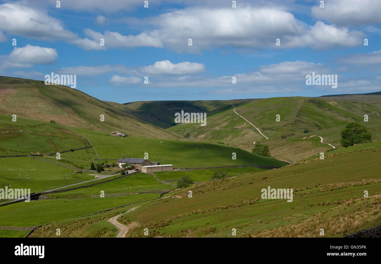 Brennand Valley in the Forest of Bowland AONB Lancashire - Stock Image