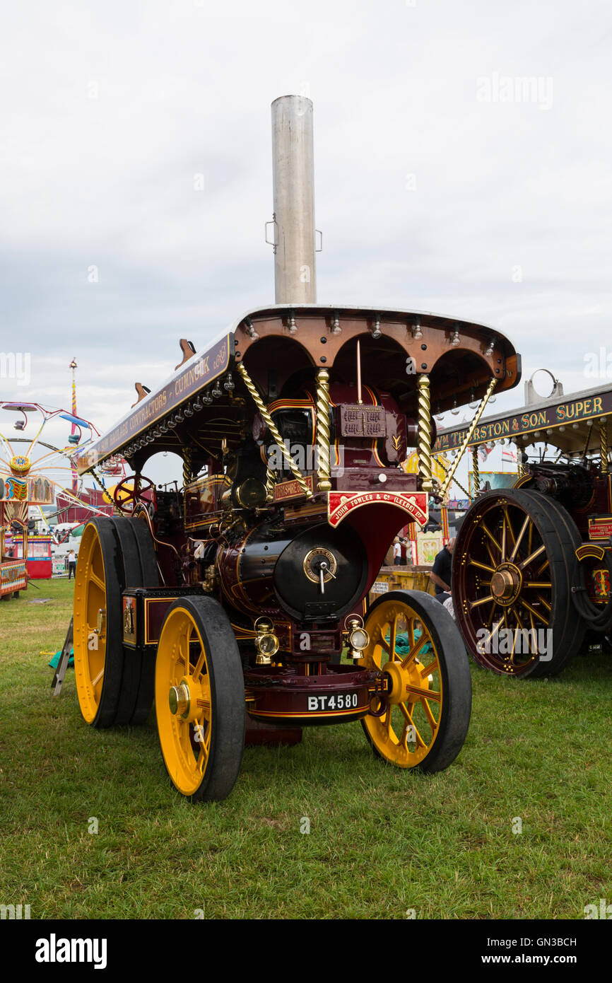 Showmans engine at dorset steam rally - Stock Image