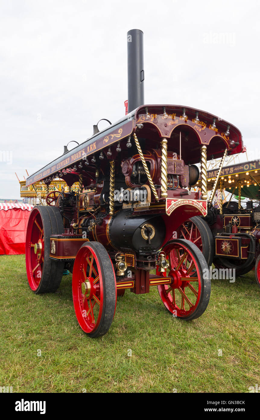 Showmans engine at blandford dorset steam rally - Stock Image