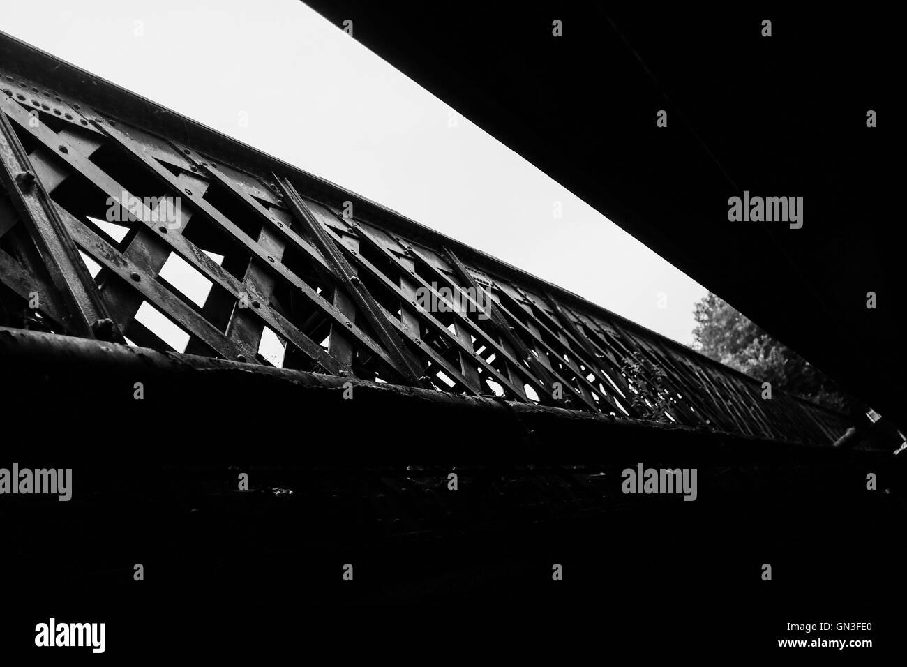 Moody Bridge - Stock Image