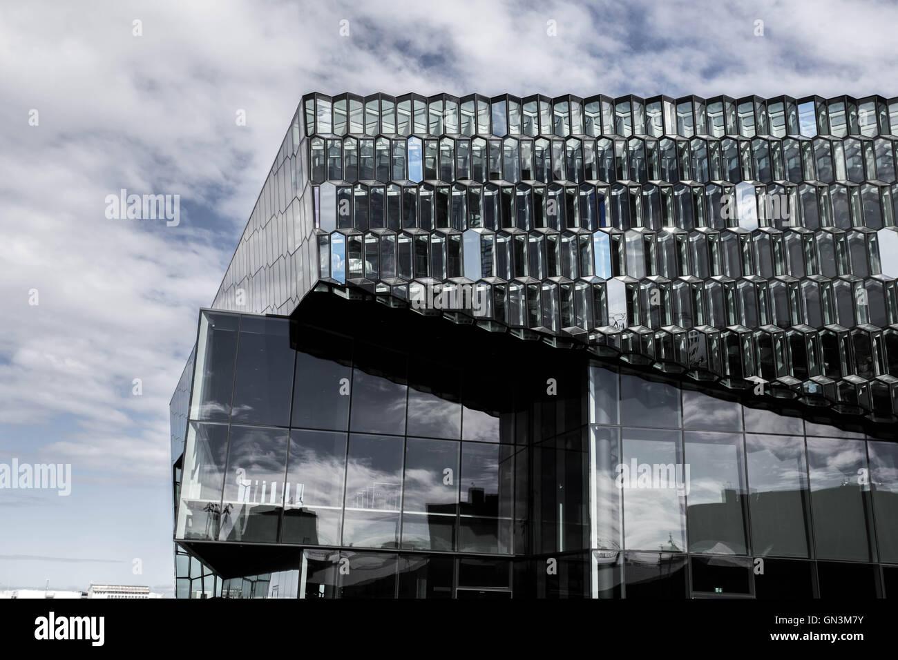 Harpa Concert Hall, Reykjavik, Iceland - Stock Image