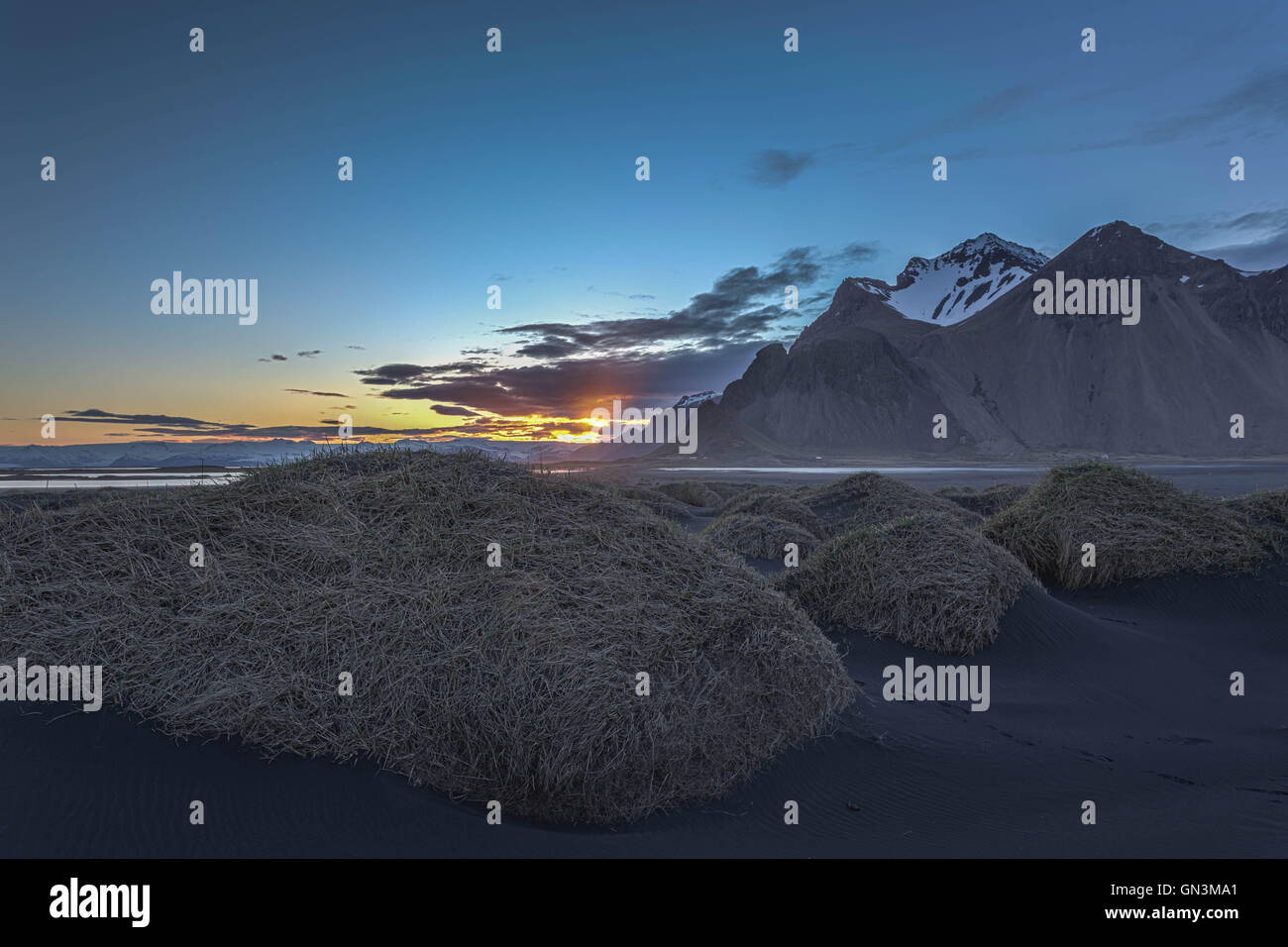 Vestrahorn Mountain Range, Iceland Landscapes - Stock Image