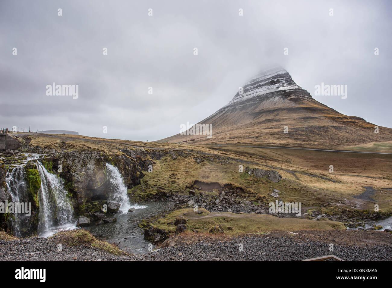 Kirkjufell Mountain, Iceland Landscapes - Stock Image