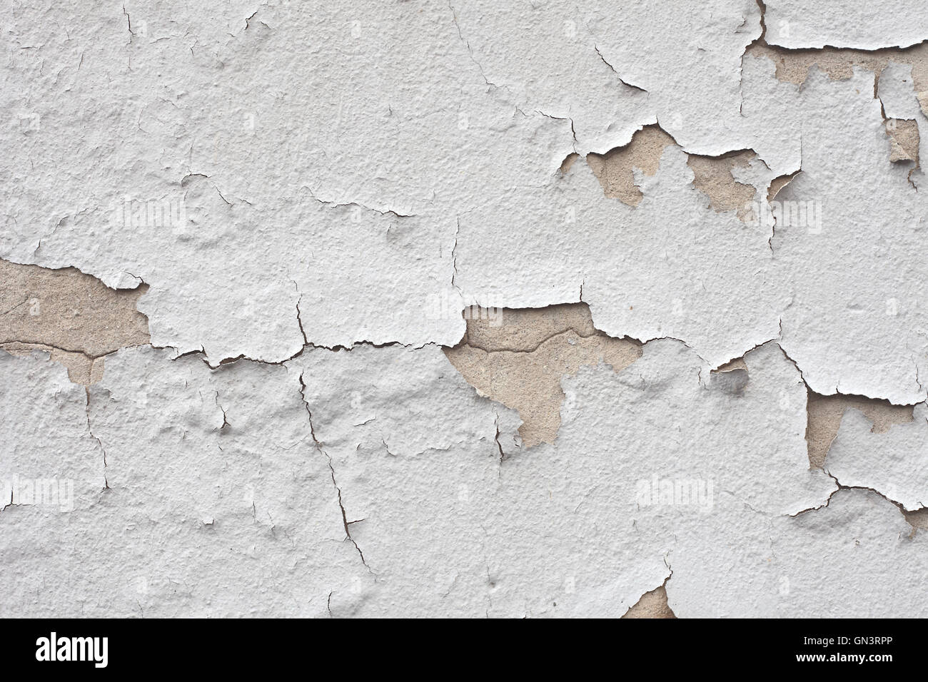 Cracked wall texture - Stock Image