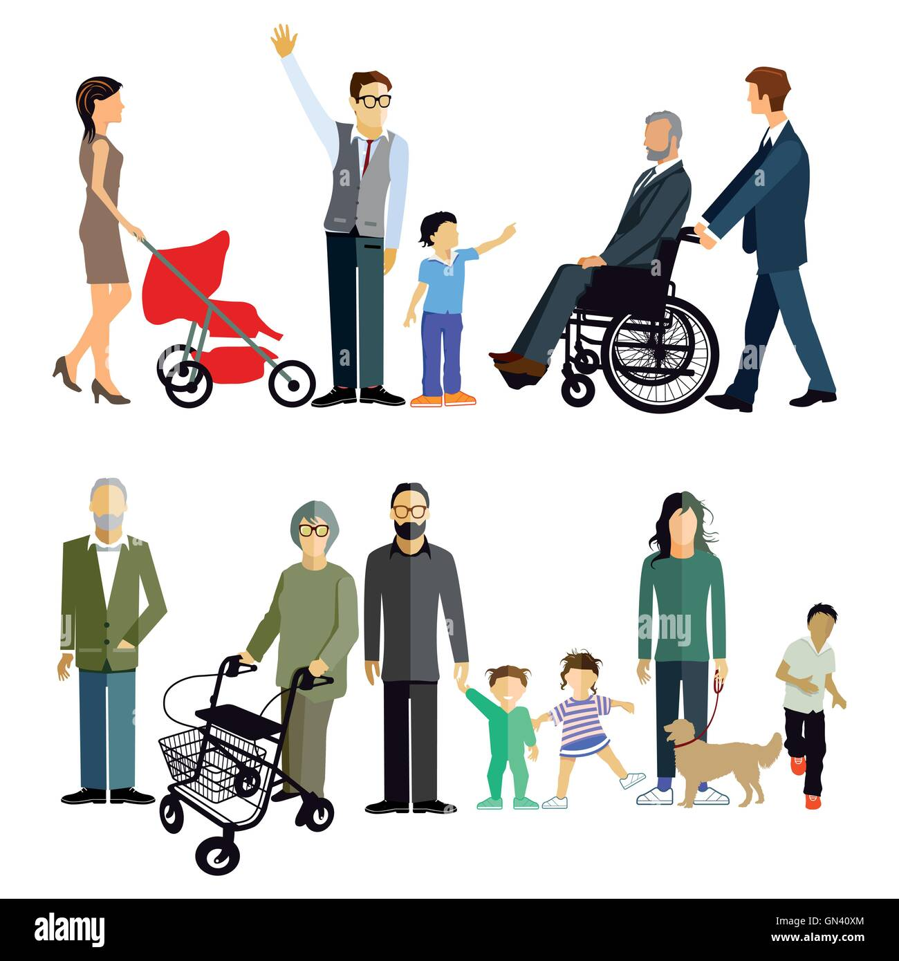 Family generations - Stock Image