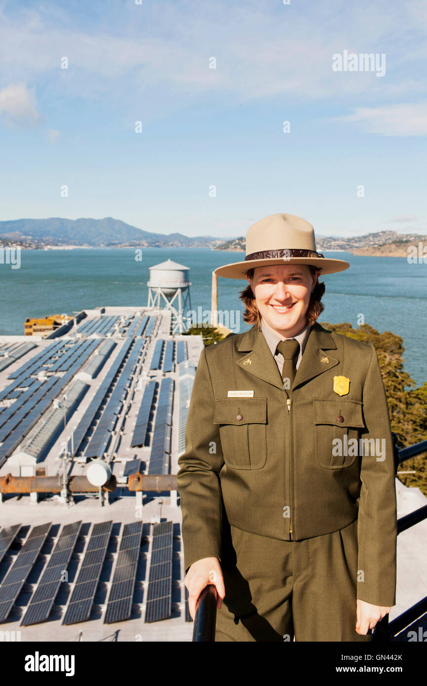 Portrait of Laura Castellini, the sustainability coordinator for the GGNRA. Had a leading role in the planning of - Stock Image