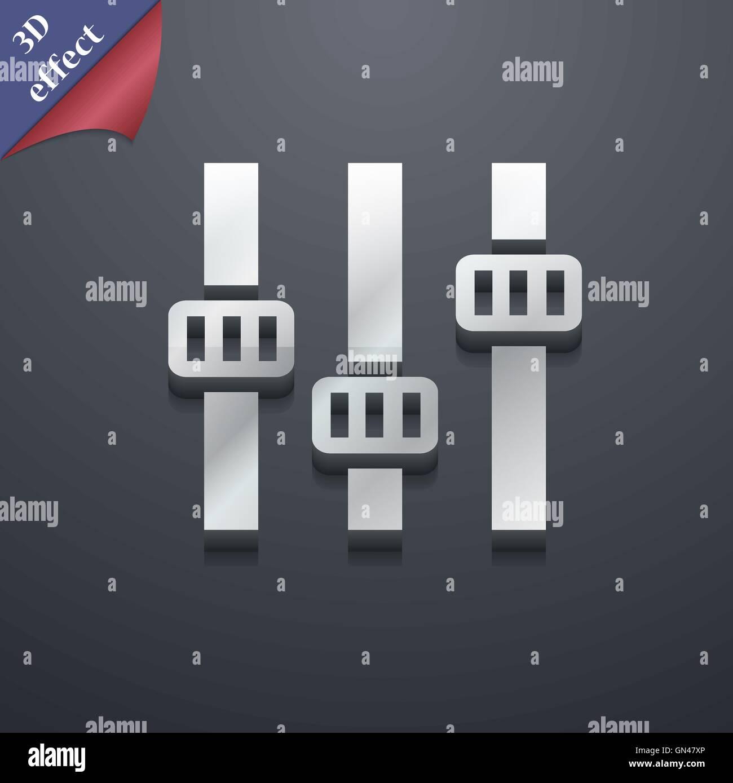 3d Equalizer Symbol Vector Illustration Stock Photos & 3d