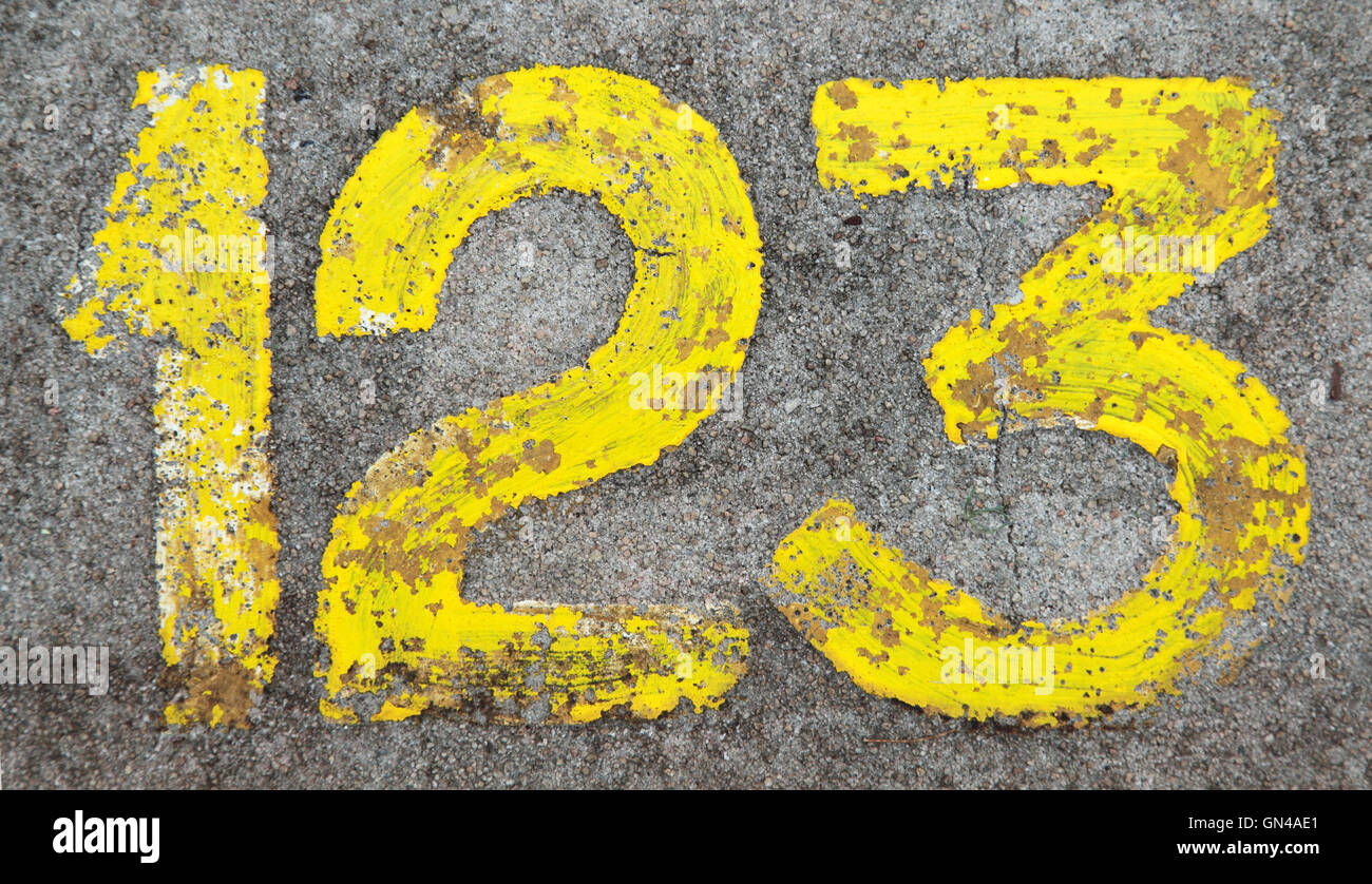 Numbers 123 - Stock Image