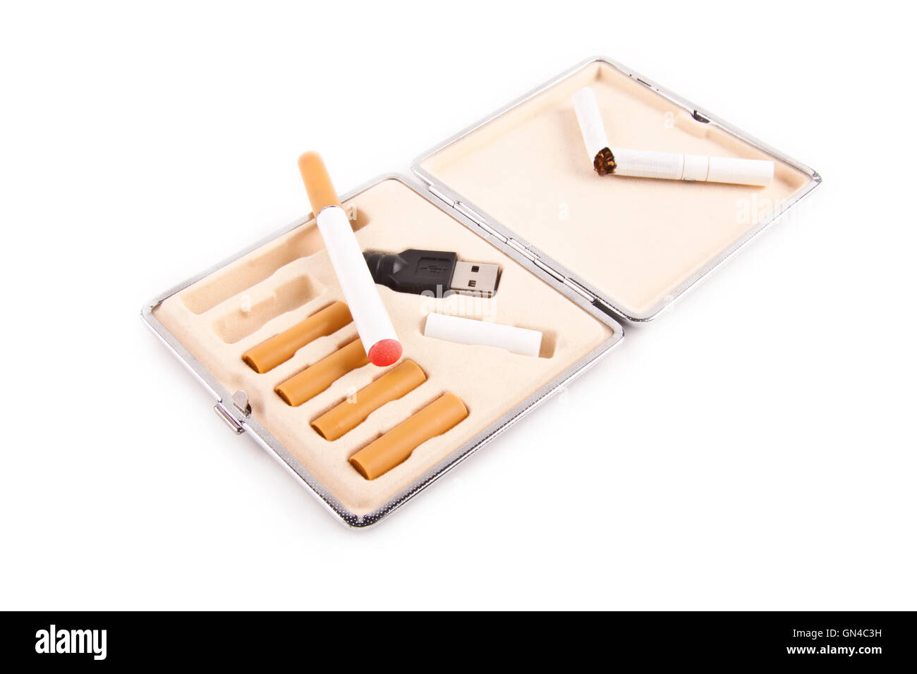 electric cigarette isolated - Stock Image