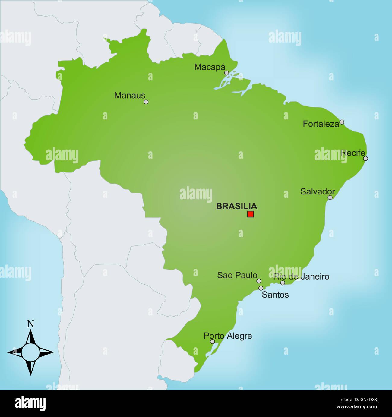 Map brazil stock photo 116268738 alamy map brazil gumiabroncs Images