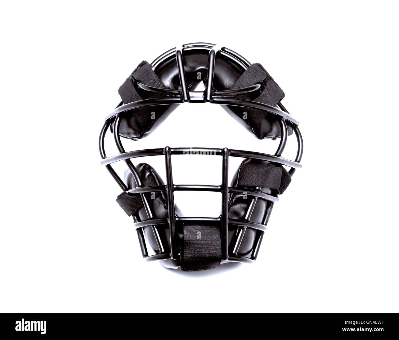 football helmet with reflection on white background - Stock Image