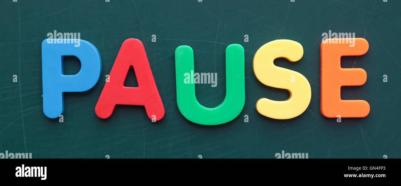 Pause (Engl.: break) - Stock Image