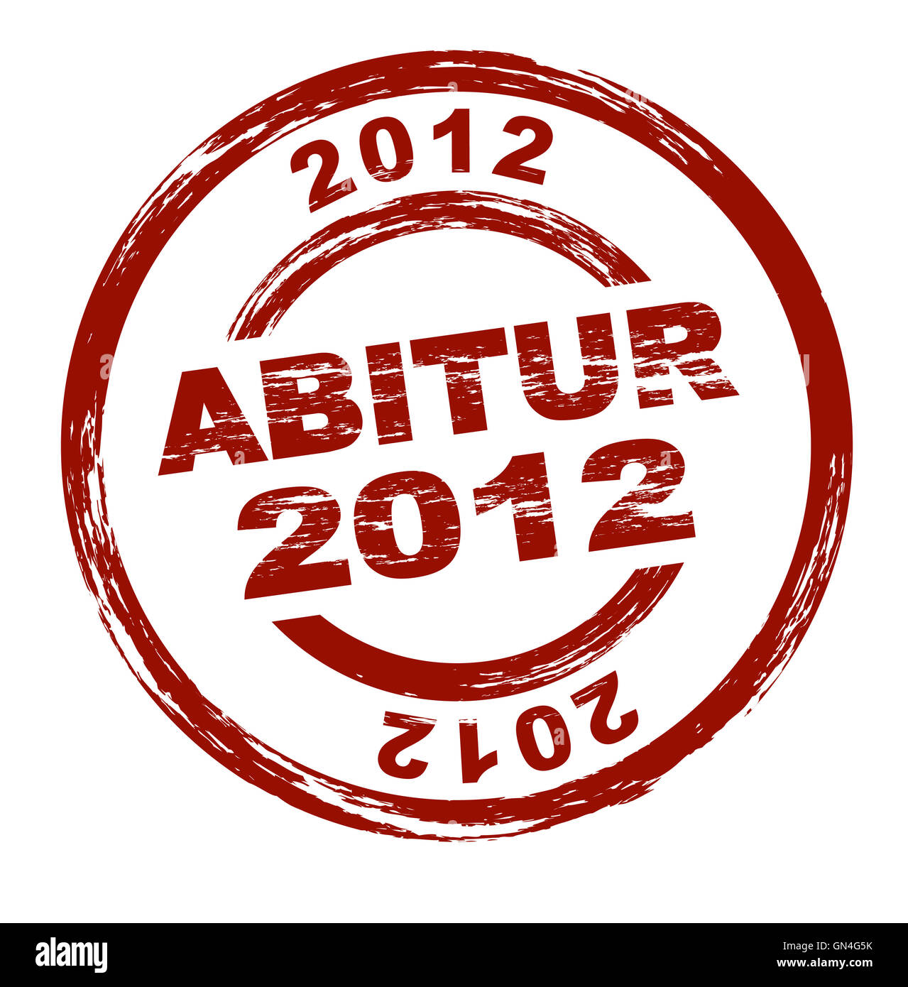 Stamp - Abitur 2012 (A-levels 2012) - Stock Image