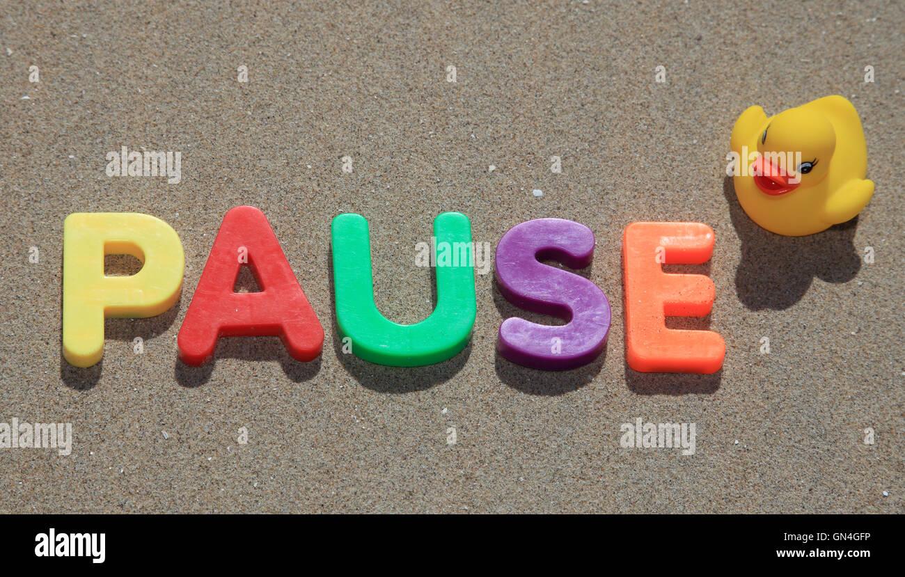 pause - Stock Image
