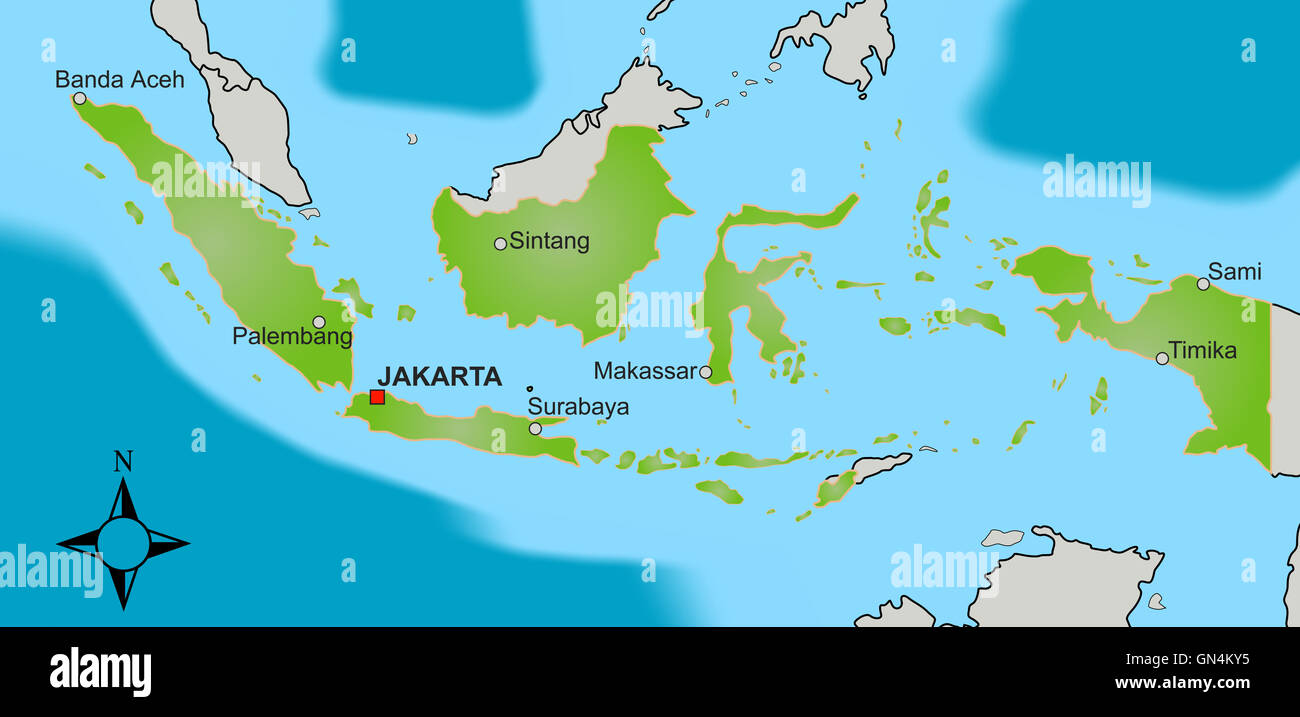 Jakarta Map Stock Photos & Jakarta Map Stock Images - Alamy