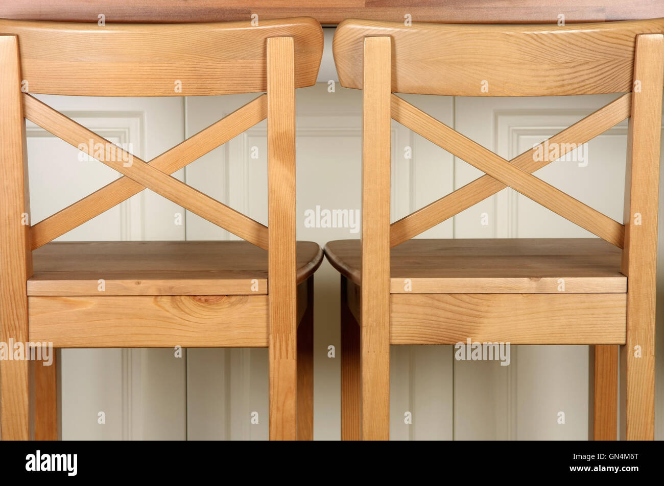 Wooden Bar Stool and kitchen counter Stock Photo   Alamy